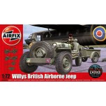 Willys Jeep + trailer + cannon 1/72